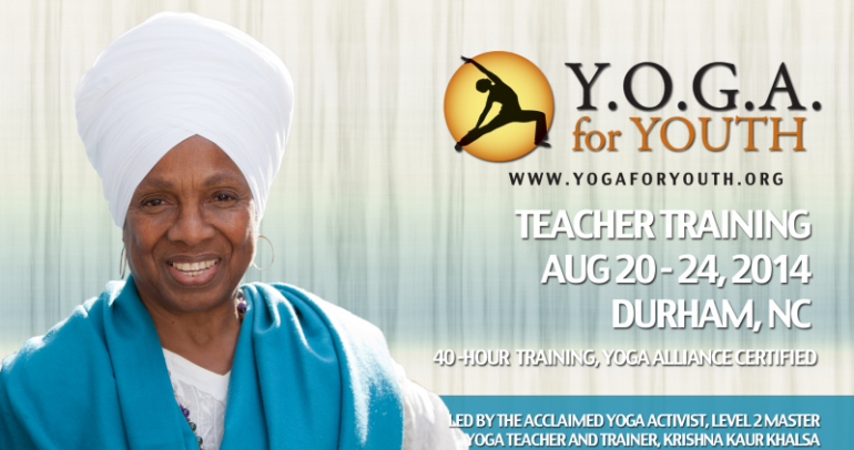 Y.O.G.A. for Youth Teacher Training: Durham, NC
